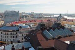 Odgórny widok na mieście kazan Russia obrazy stock