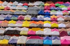 Odgórny widok namiot brezentowy Obraz Royalty Free