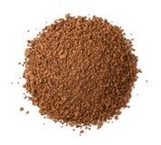 Odgórny widok natychmiastowej kawy granule Fotografia Royalty Free