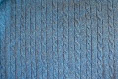 Odgórny widok nieba błękit dział tkaninę z pleceniami Obrazy Royalty Free