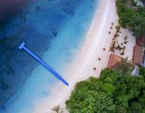 Odgórny widok nyang oo phee wyspy andaman morza granica Myanmar i południowy Thailand jeden najwięcej popularnego podróżnego miej zdjęcie stock