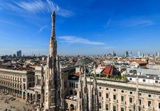 Odgórny widok od Duomo zdjęcie royalty free