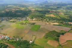 Odgórny widok od samolotu Zdjęcie Stock