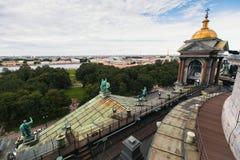 Odgórny widok od St Isaac ` s katedry w St Petersburg Obrazy Stock