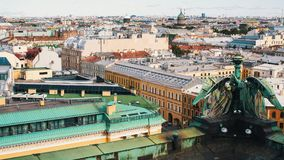 Odgórny widok od St Isaac ` s katedry w St Petersburg, Rosja Rosja Fotografia Stock