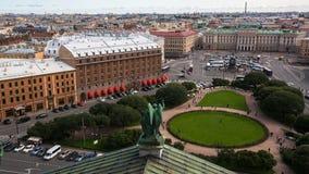 Odgórny widok od StIsaac ` s katedry w St Petersburg, Rosja Podróż Zdjęcia Stock