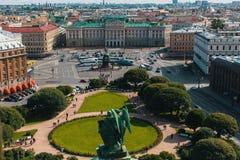 Odgórny widok od StIsaac ` s katedry w St Petersburg, Rosja Podróż Fotografia Stock