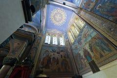 Odgórny widok ortodoksyjna katedra Obrazy Stock