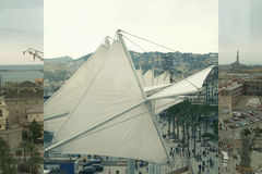 Odgórny widok panorama antyka port Włochy Zdjęcie Stock
