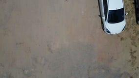 Odgórny widok parking samochodowy zdjęcie wideo