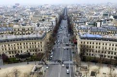 Odgórny widok Paryż Zdjęcia Royalty Free