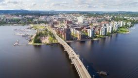 Odgórny widok piękny miasto zdjęcie royalty free