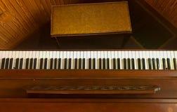 Odgórny widok pianino Zdjęcie Royalty Free