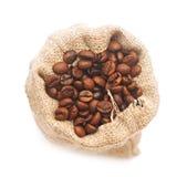 Odgórny widok piec kawowe fasole Fotografia Stock