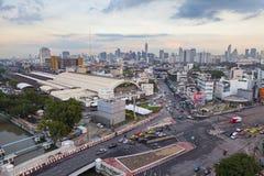 Odgórny widok przy Hua Lamphong staci społeczeństwa punktem zwrotnym Zdjęcie Stock