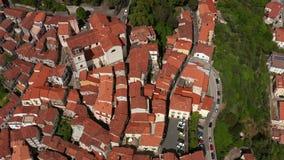 Odgórny widok przy starym miasteczkiem Rivello w Włochy zdjęcie wideo