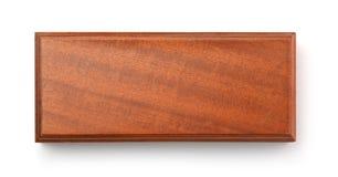 Odgórny widok pustego brązu drewniany pudełko fotografia stock