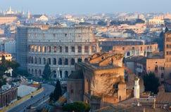 Odgórny widok Rzym, Włochy Obraz Royalty Free
