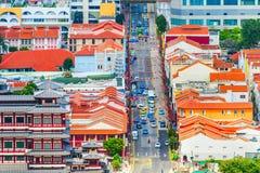 odgórny widok Singapur Chinatown obraz stock