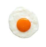 Odgórny widok smażący jajko Fotografia Stock