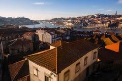 Odgórny widok stary śródmieście, Porto fotografia stock