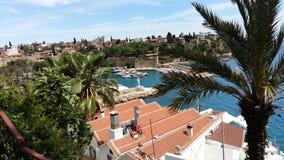 Odgórny widok stary miasto w Antalya Fotografia Royalty Free