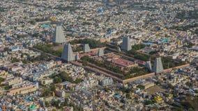 Odgórny widok Tiruvannamalai miasto Arunacheshvara świątynia i Fotografia Stock