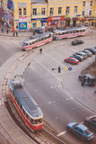 Odgórny widok ulicy Kijów Fotografia Royalty Free