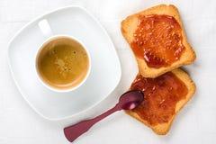 Healty Śniadaniowy Odgórny widok Zdjęcie Stock