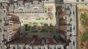 Odgórny widok wielo- kondygnacja budynek mieszkalny zbiory wideo