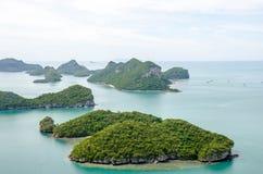 Odgórny widok Wua Talab wyspa, Ang paska Krajowy Morski park, Zdjęcie Royalty Free