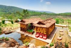 Odgórny widok zadziwiający dom glina Dalat gwiazda Fotografia Stock