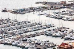 Odgórny widok zatoka Marina Obraz Royalty Free