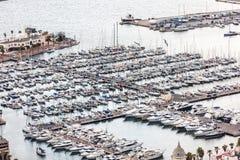 Odgórny widok zatoka Marina Obraz Stock