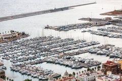 Odgórny widok zatoka Marina Obrazy Royalty Free
