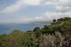 Odgórny widok zatoka z koralami Zdjęcia Stock