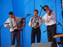 ODGLOS KARPAT Z HUCULSZCZYZNY, LUBLIN, POLAND. The performance of the folk group Odglos Karpat z Huculszczyzny (The voice of the Carpathians from Huculszczyzna) Royalty Free Stock Images