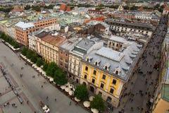 Odgórny widok Stary Grodzki Krakow, Polska Podróż Zdjęcie Royalty Free