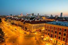 Odgórny widok stary miasteczko w Warszawa Obrazy Stock