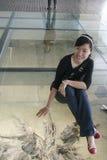 Odgrzebany heban na przedstawieniu w muzeum, Chengdu, porcelana obrazy royalty free