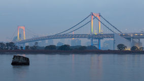 Odiaba Tokyo, Japan, Rainbow bridge Royalty Free Stock Photography