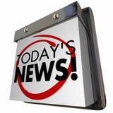 Odierno calendario dell'aggiornamento di annuncio della notizia Fotografia Stock Libera da Diritti