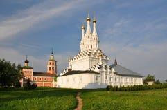 Odigitrievsky教会在Vyazma镇  库存图片