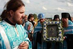 odigitrij chiamato Smolensk della madre dell'icona del dio Fotografia Stock