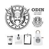 Odin gods Vector logo design template. Stock Image
