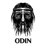 Odin scandinavian ancient god head vector icon Stock Images