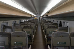 Odinary seats of E5 Series bullet(High-speed,Shinkansen) train. Stock Photography