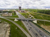Odintsovo from above. Drone view. Moscow region. Russia Stock Photos