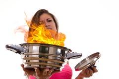 Odio cucinare Fotografie Stock
