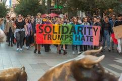 Odio de los triunfos de la solidaridad Imagen de archivo libre de regalías